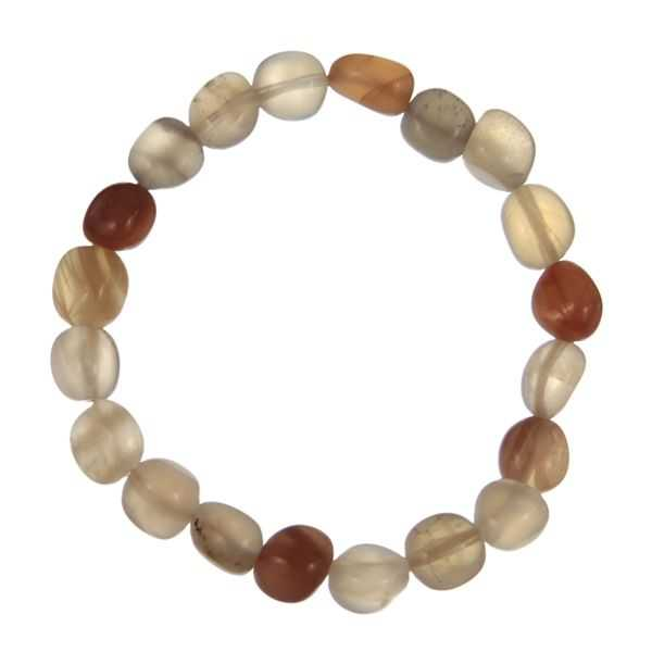 bracelet en pierre de lune orang e perles pierres roul es naturosph re. Black Bedroom Furniture Sets. Home Design Ideas