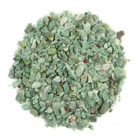 Sable brut d'aventurine verte 0/10 mm - 100 grammes