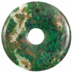 Donut Pi Chinois cuprite dans chrysocolle pour pendentif