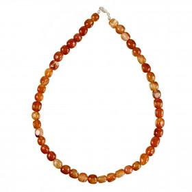 Collier en cornaline - Perles pierres roulées