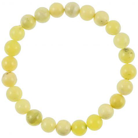 Bracelet en serpentine verte - perles rondes