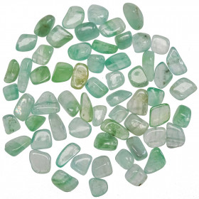 Pierres roulées calcite verte - 1.5 à 2.5 cm - Lot de 4