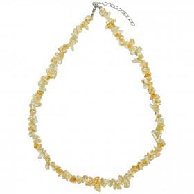 Collier de pierre en citrine - perles baroques