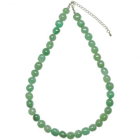 Collier en aventurine verte - Perles pierres roulées