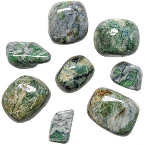Pierres roulées smaragdite - 2 à 3 cm - Lot de 2