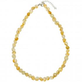Collier en citrine - Perles pierres roulées