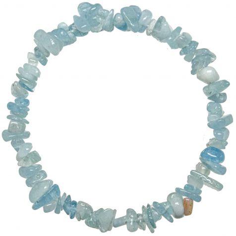 Bracelet en aigue-marine - perles baroques