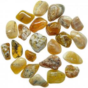 Pierres roulées opale jaune - 2 à 3 cm - Lot de 3