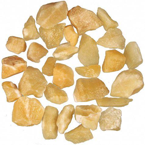 Pierres brutes calcite jaune - 2 à 4 cm - 100 grammes