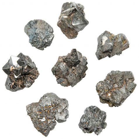 Pierres brutes pseudomorphoses de magnétite en hématite - 2.5 à 3.5 cm - Lot de 3