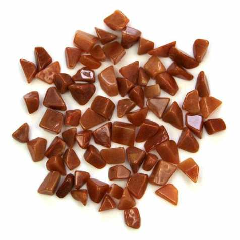 Pierres roulées aventurine rouge - 1.5 à 2 cm - 20 grammes