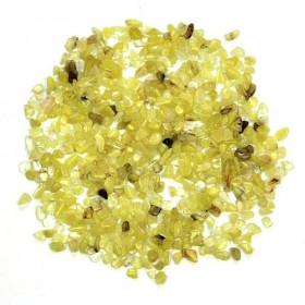 Mini pierres roulées calcite jaune - 5 à 10 mm - 100 grammes