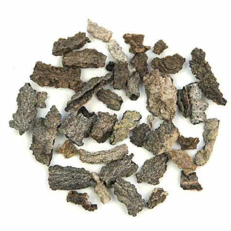 Pierres brutes fulgurite des Etats-Unis - 2 à 4 cm - 10 grammes