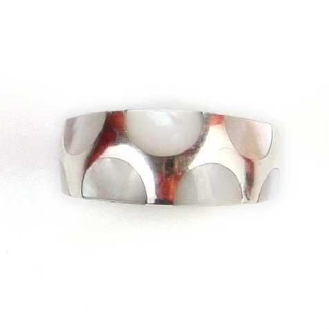 Bagues anneau en argent 925 et nacre
