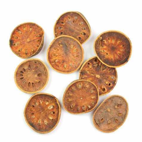 Tranches de bellanis séchés pour la décoration - Lot de 4