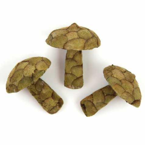 Champignons décoratifs fabriqués en pana - Lot de 3