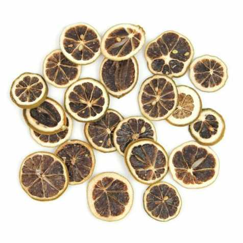 Tranches de citrons verts séchés pour la décoration - 50 grammes