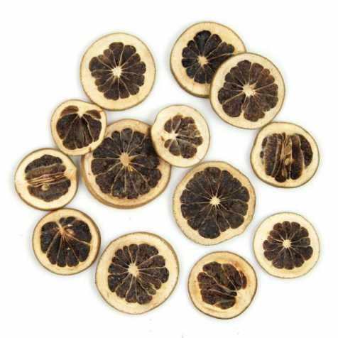 Tranches de pamplemousses verts séchés pour la décoration - 50 grammes