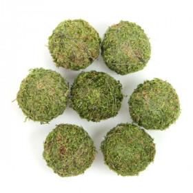 Balles de mousse verte déco - 5 cm - Lot de 2