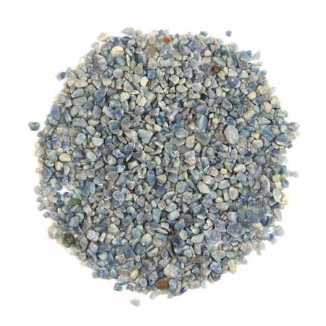 Sable semi-roulé de quartz bleu 2/10 mm - 100 grammes