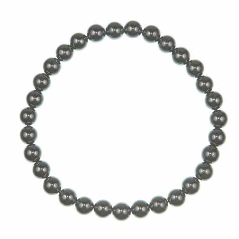 Bracelet en hématite - perles rondes