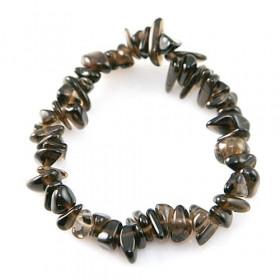 Bracelet en cristal fumé - perles baroques