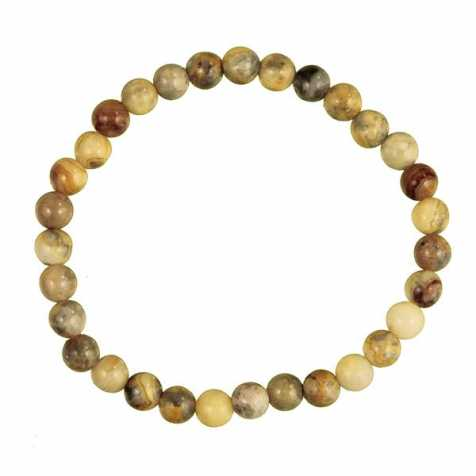 Bracelet en agate crazy lace - perles rondes