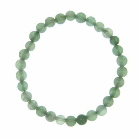Bracelet en aventurine verte - perles rondes