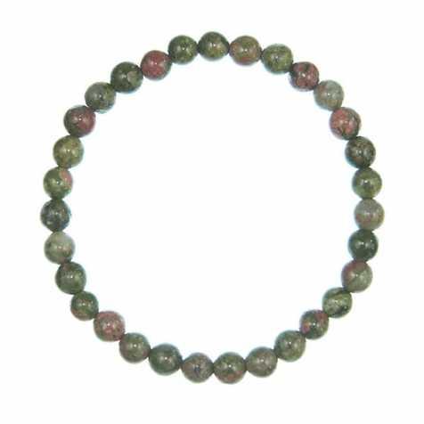 Bracelet en unakite - perles rondes