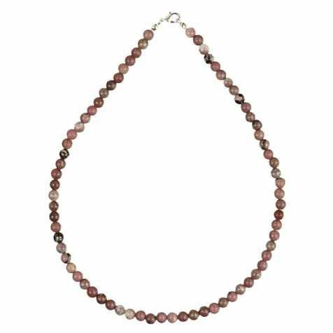 Collier en rhodonite - 45 cm - Perles rondes