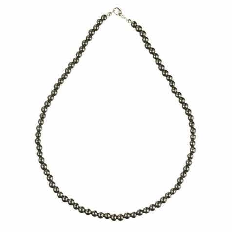 Collier en hématite - 45 cm - Perles rondes
