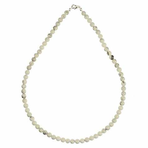 Collier en howlite - 45 cm - Perles rondes