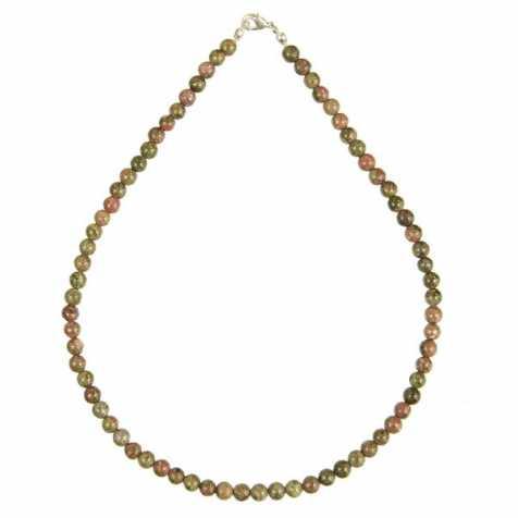 Collier en unakite - 45 cm - Perles rondes