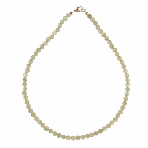 Collier en préhnite - 45 cm - Perles rondes