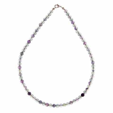 Collier en fluorite multicolore - 45 cm - Perles rondes