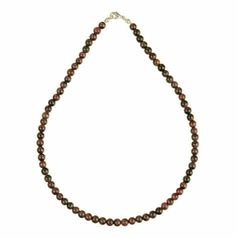 Collier en oeil de boeuf - 45 cm - Perles rondes