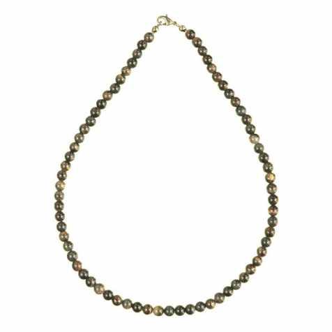Collier en oeil de faucon- 45 cm - Perles rondes