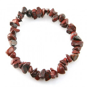 Bracelet en jaspe breschia - perles baroques