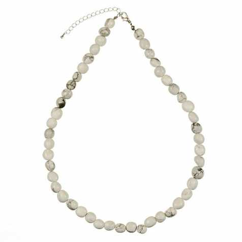 Collier en howlite - Perles pierres roulées