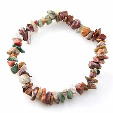 Bracelet en jaspe héliotrope - perles baroques