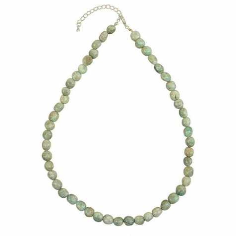 Collier en amazonite - Perles pierres roulées
