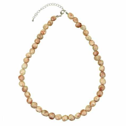 Collier en pierre de soleil - Perles pierres roulées
