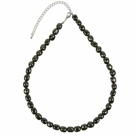 Collier en tourmaline noire - Perles pierres roulées