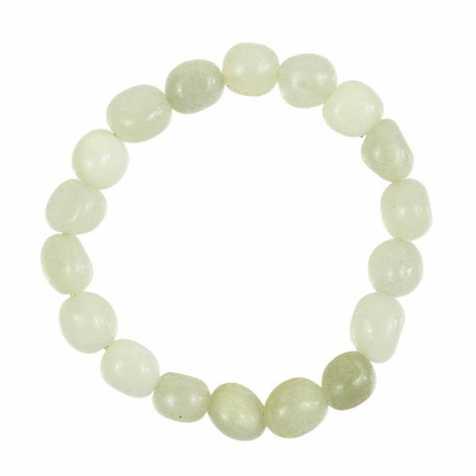 Bracelet en jade vert de Chine - Perles pierres roulées - Naturosphère b71c713e2b81