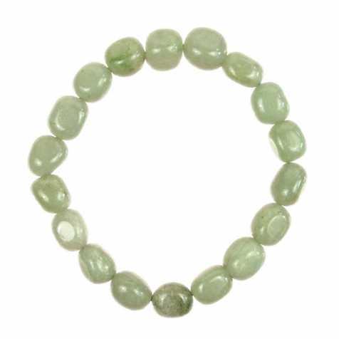 Bracelet en aventurine verte - Perles pierres roulées