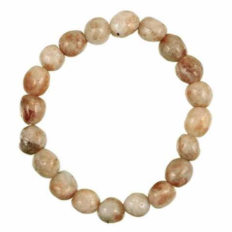 Bracelet en pierre de soleil - Perles pierres roulées