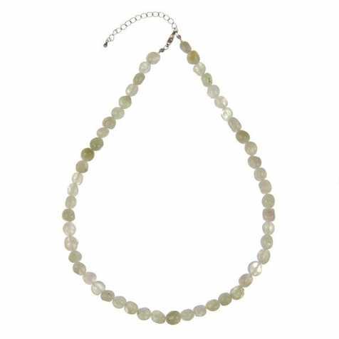Collier en préhnite - Perles pierres roulées