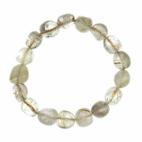 Bracelet en cristal rutile - Perles pierres roulées