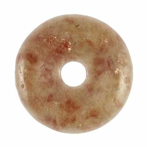 Donut Pi Chinois en pierre de soleil pour pendentif