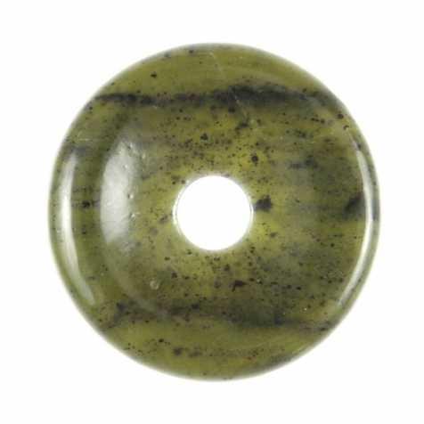 Donut Pi Chinois en jade néphrite pour pendentif
